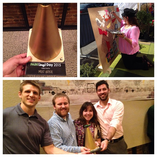 Drumroll please..... We won the Most Artistic Golden Cone Award! Thanks to everyone who helped us Paint The Town and especially @camillaspadafino for graciously sharing her talent and Paint By Numbers Nashville with us! Cheers to public art and reclaiming public space!