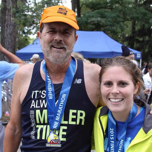 Our very own @lamill1017 qualified to run the 2016 Boston Marathon along with her Dad! We can't wait to cheer you on Lauren! #runlaurenrun #itsalwaysmillertime #bostonstrong